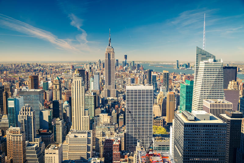 Manhattan widok z lotu ptaka obraz royalty free