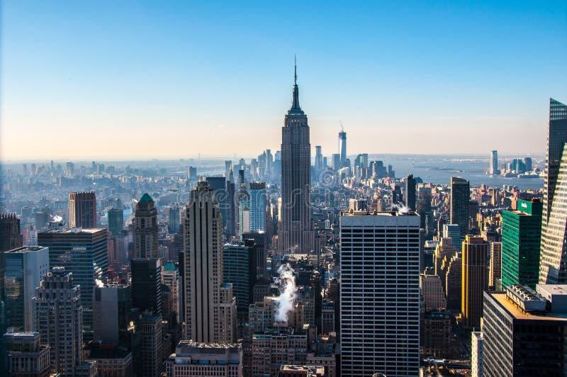 Manhattan widoku południe obraz royalty free