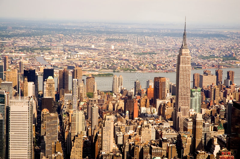 Manhattan-Wolkenkratzer stockbilder