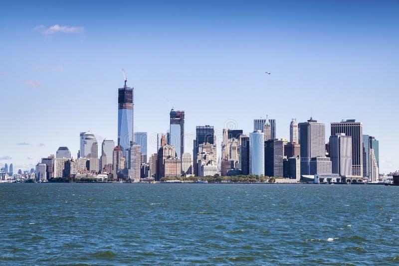 Manhattan - world's financial center royalty free stock photo