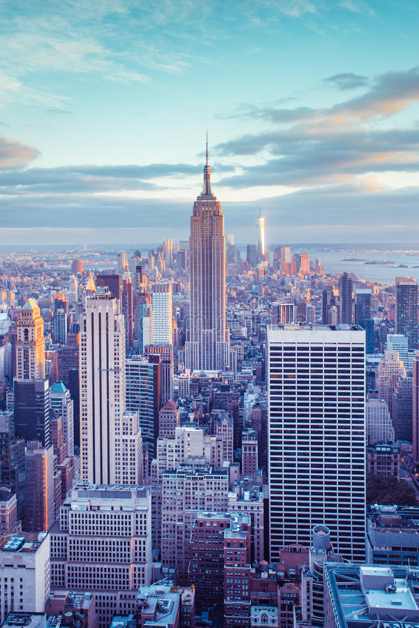 Manhattan zmierzch fotografia royalty free