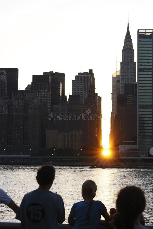 Manhattanhenge stock photo
