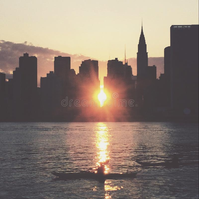 Download Manhattanhenge stock photo. Image of manhattan, newyork - 42562684