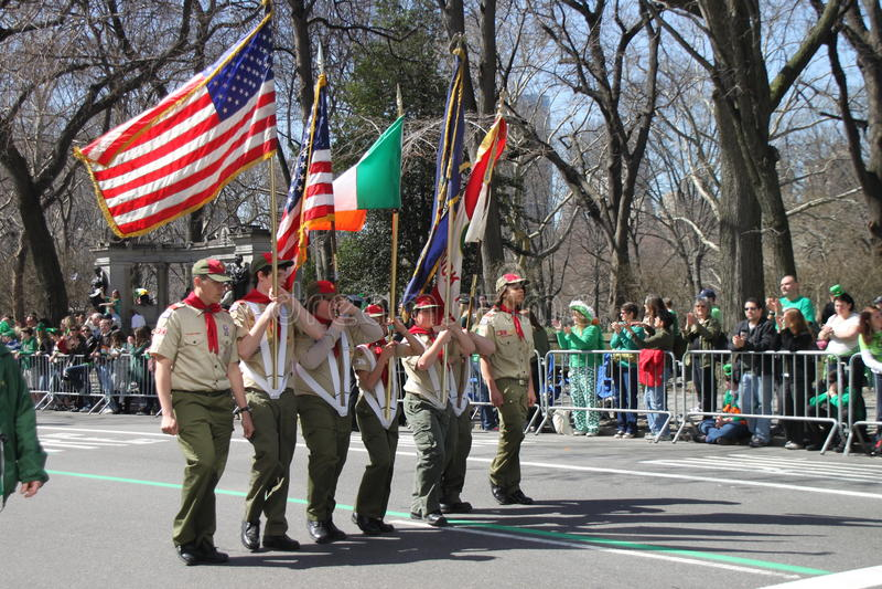 Manhattans Parade Str.-Patrick stockbild