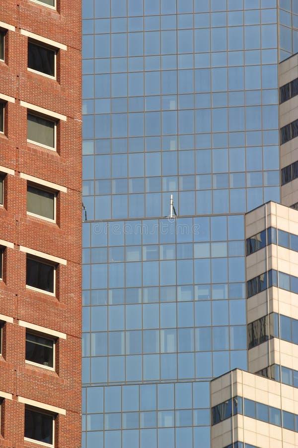Manhatten skyscrapers stock images