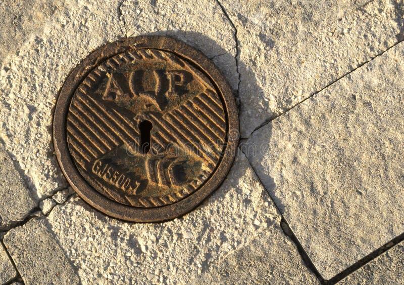 Manhole Apulia akwedukt obrazy stock