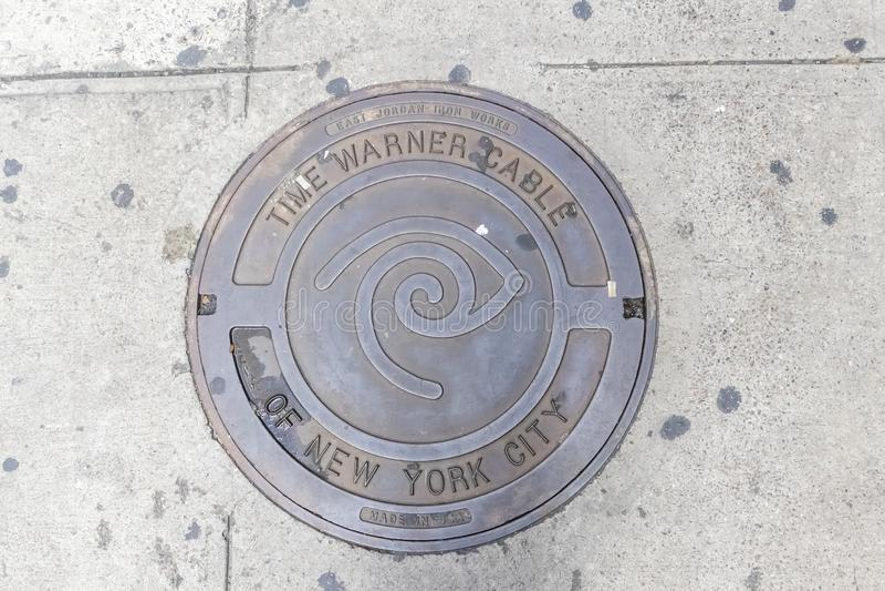Manhole Cover in New York, New York stock image