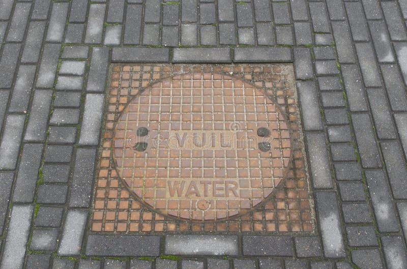 Manhole cover stock image