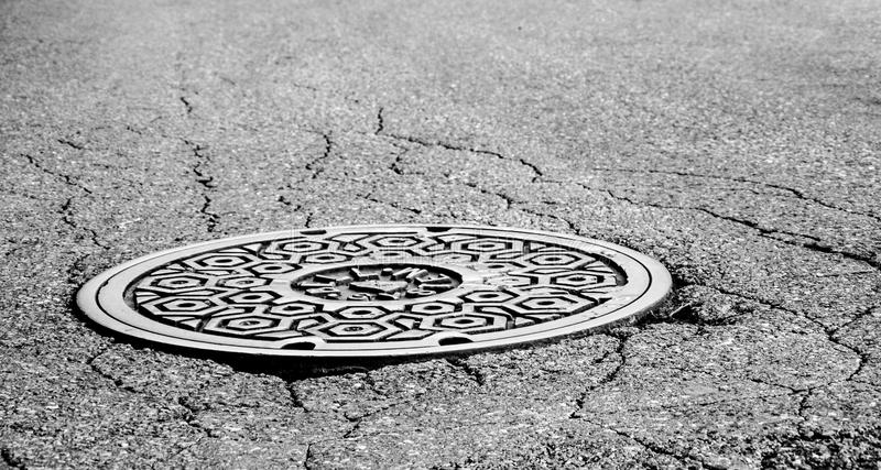 Manhole Cover royalty free stock images