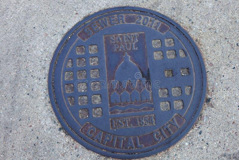 Manhole w St Paul zdjęcie stock