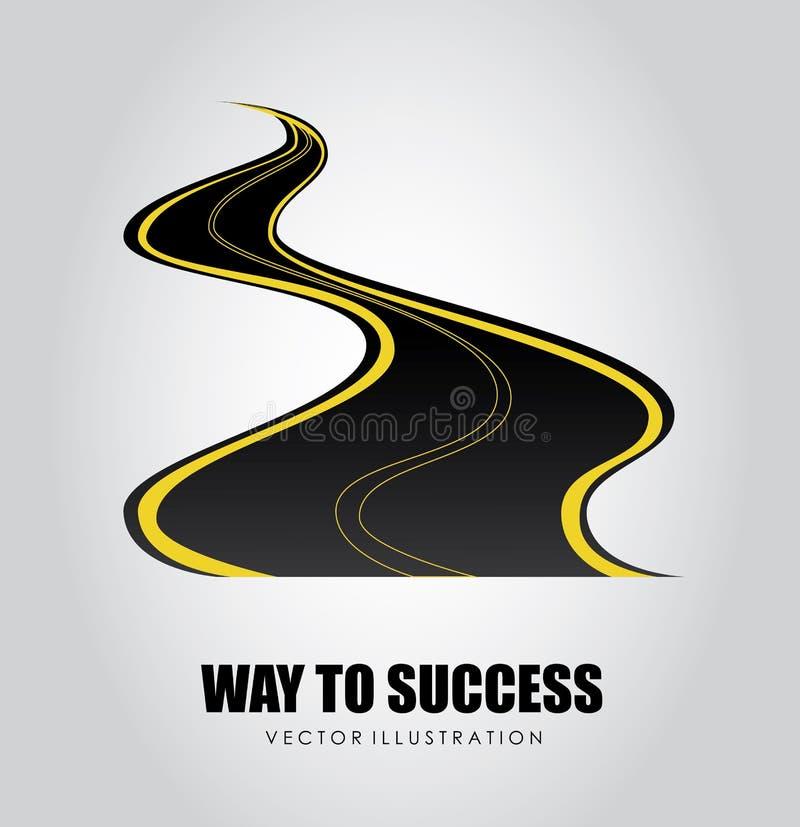 Manière à la conception de succès illustration stock
