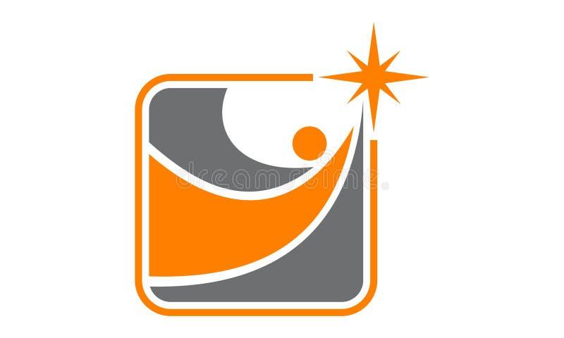 Manière au logo de succès illustration de vecteur
