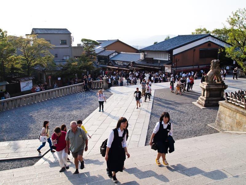 Manière au temple de Kiyomizu, Kyoto, Japon photographie stock