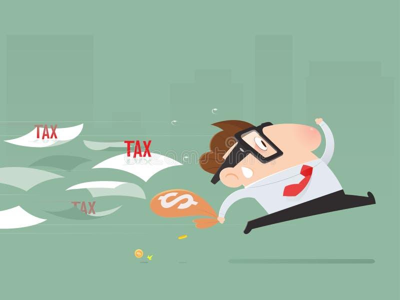 Manière d'éviter de Tax d'homme d'affaires illustration libre de droits