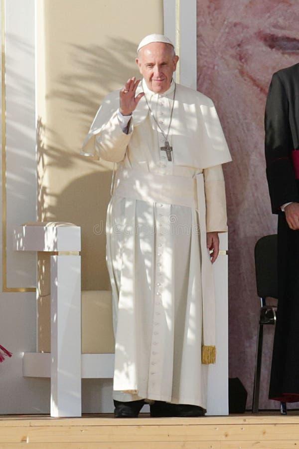 Manière 2016 de la croix - pape Francis de jour de la jeunesse du monde photo stock