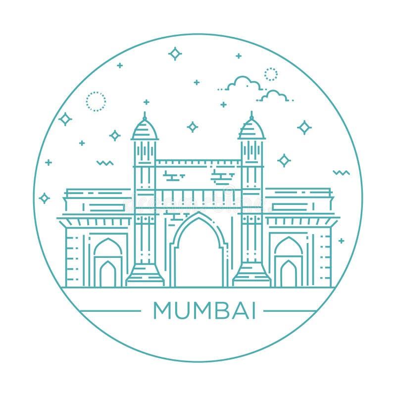 Manière de porte d'illustration de Mumbai d'Inde illustration stock