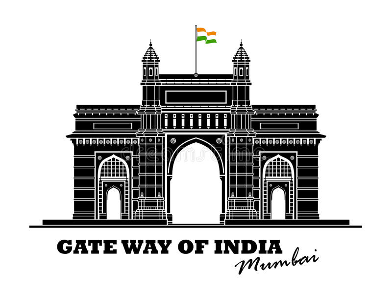 Manière de porte d'Inde illustration de vecteur