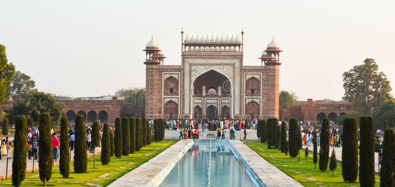 Manière de porte d'Inde Taj Mahal Agra, Inde photo libre de droits