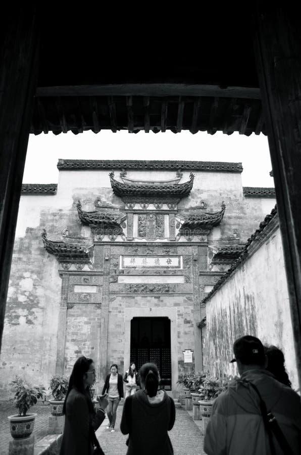 Manière de porte de village de Hongcun photo stock