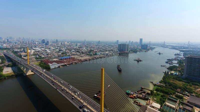 Manière exprès d'horizon aérien, Bangkok image libre de droits