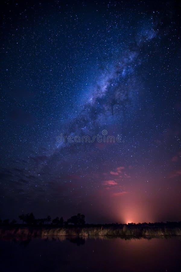 Manière laiteuse - ciel nocturne photos libres de droits