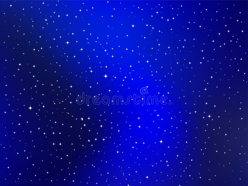 Manière laiteuse, le ciel au-dessus de nous, ciel nocturne étoilé illustration stock