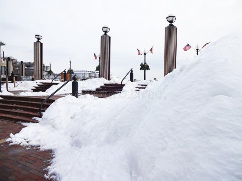 Manié habilement vers le haut de la neige au bord de mer de Georgetown photo libre de droits