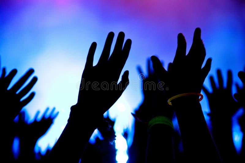 Mani in aria fotografia stock libera da diritti