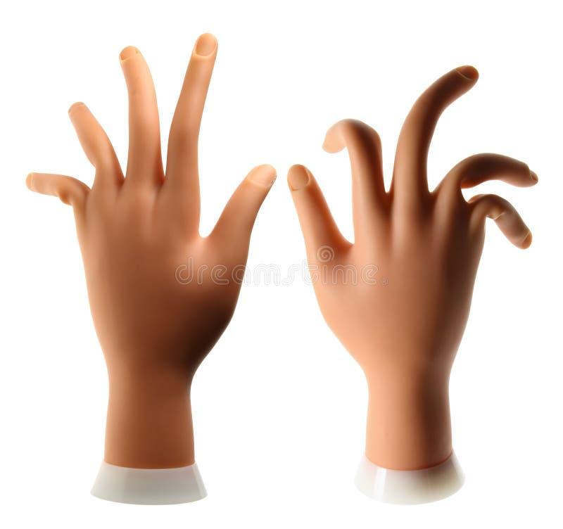 Mani artificiali immagine stock