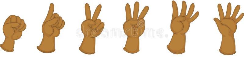 Mani che mostrano le figure royalty illustrazione gratis