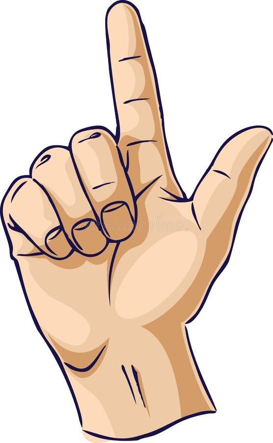 Mani che mostrano un gesto della barretta illustrazione di stock