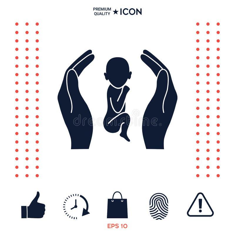 Download Mani Che Tengono Bambino, Simbolo Di Protezione Illustrazione Vettoriale - Illustrazione di people, cuore: 117975370