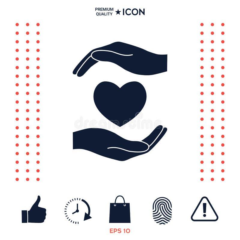 Download Mani che tengono cuore illustrazione vettoriale. Illustrazione di people - 117975430