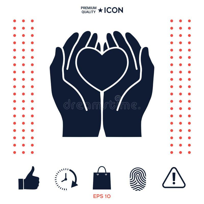 Download Mani Che Tengono Cuore - Simbolo Di Protezione Illustrazione Vettoriale - Illustrazione di stretta, vita: 117975454