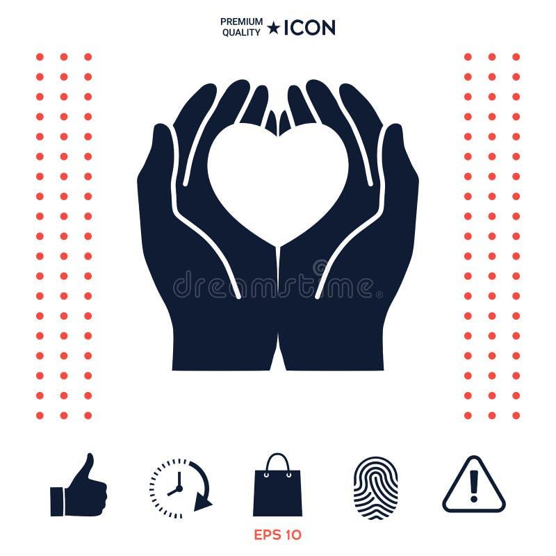 Download Mani Che Tengono Cuore - Simbolo Di Protezione Illustrazione Vettoriale - Illustrazione di stretta, adulto: 117975459