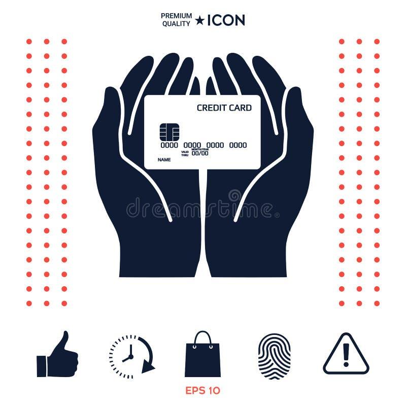 Download Mani Che Tengono La Carta Di Credito Icona Illustrazione Vettoriale - Illustrazione di icona, disegno: 117975384