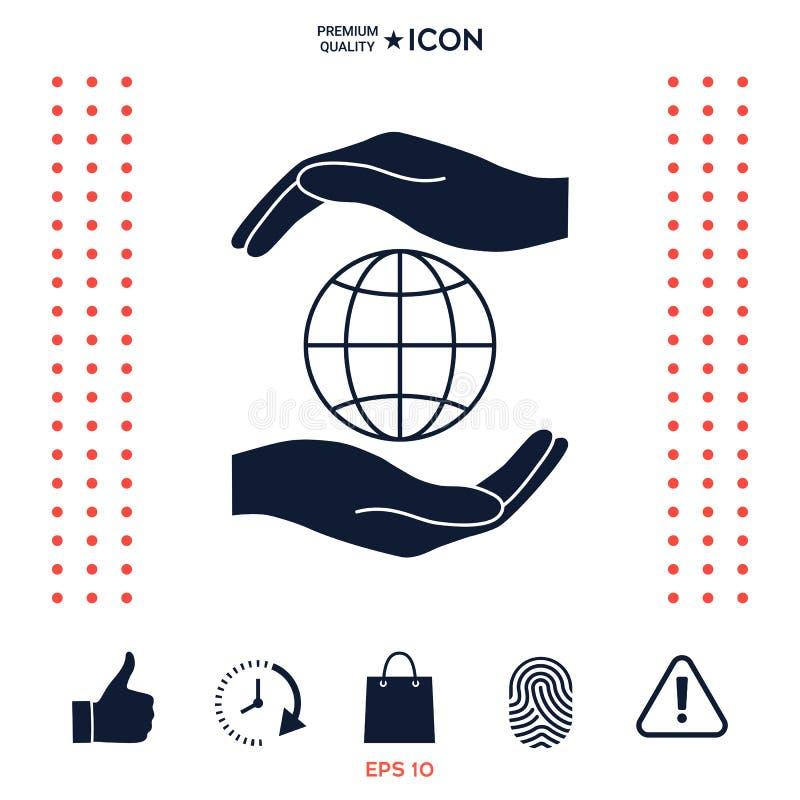 Download Mani Che Tengono La Terra - Protegga L'icona Illustrazione Vettoriale - Illustrazione di icona, simbolo: 117975435