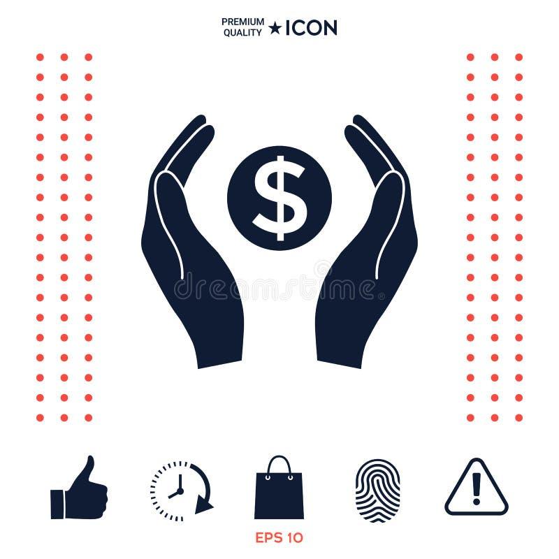 Download Mani Che Tengono Simbolo Soldi Del Dollaro Illustrazione Vettoriale - Illustrazione di banca, pagamento: 117975489
