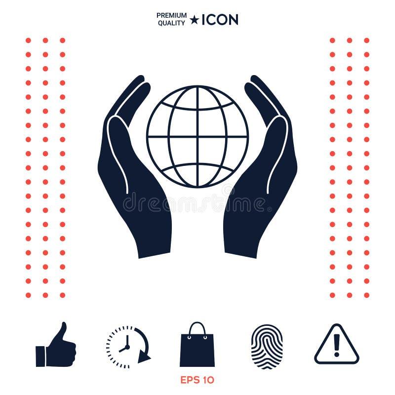 Download Mani Che Tengono Terra Protegga L'icona Illustrazione Vettoriale - Illustrazione di riciclaggio, globale: 117975437