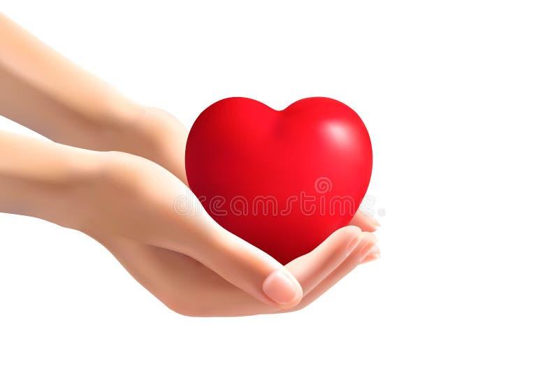 Mani che tengono un cuore royalty illustrazione gratis