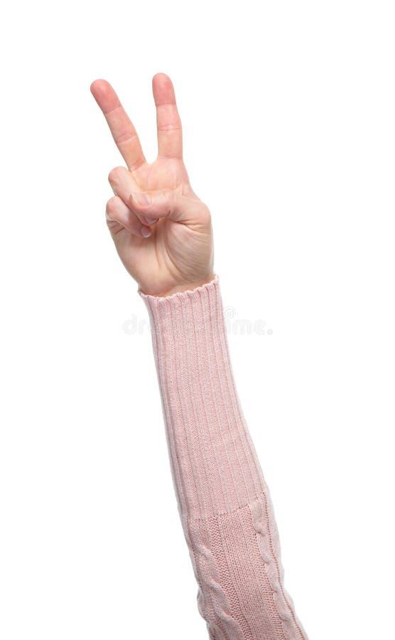 Mani con i gesti immagine stock
