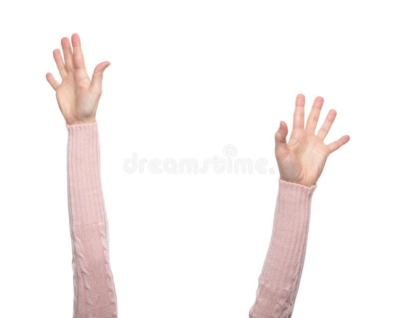 Mani con i gesti fotografie stock
