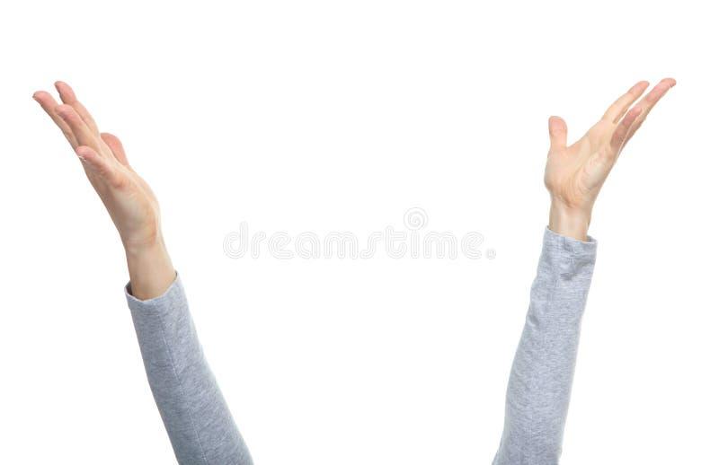 Mani con i gesti fotografia stock