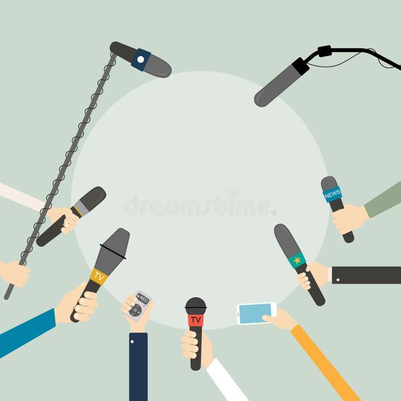 Mani con i microfoni royalty illustrazione gratis