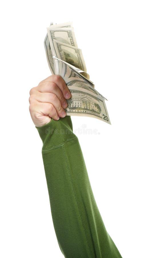 Mani con soldi fotografie stock