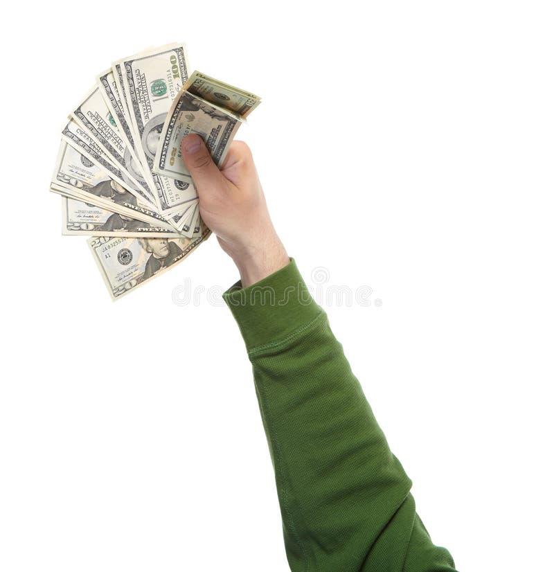Mani con soldi immagini stock libere da diritti