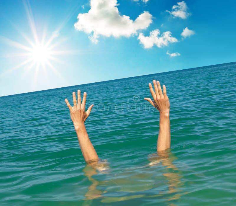 Mani da acqua immagine stock