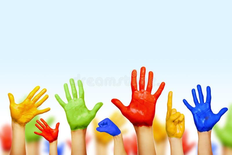 Mani dei colori differenti immagine stock libera da diritti