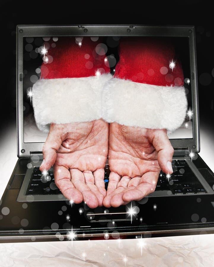 Mani del Babbo Natale immagine stock libera da diritti