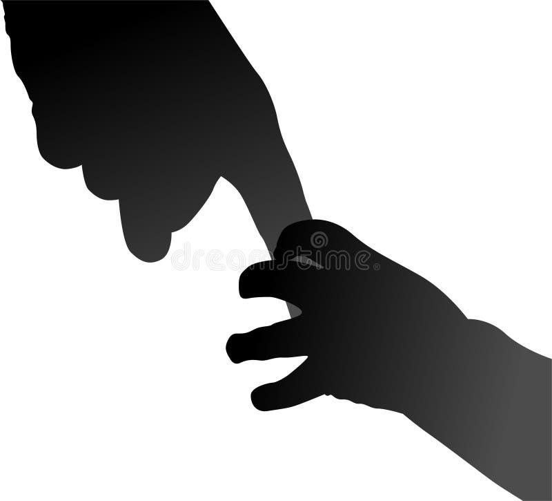 Mani del bambino e della madre illustrazione vettoriale